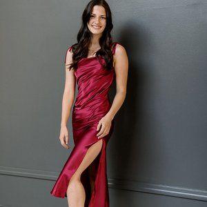 Burgundy Bridesmaid/Occasion Dress